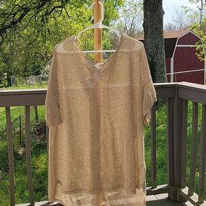 Michael Kors gold mesh overshirt size 3x